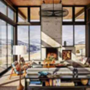 Delta Shelter - A transforming Cabin - Interior/lounge