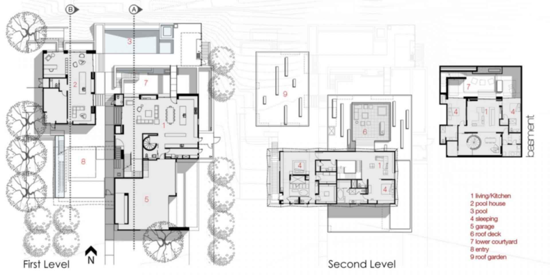 Tresarca House - Floor plan
