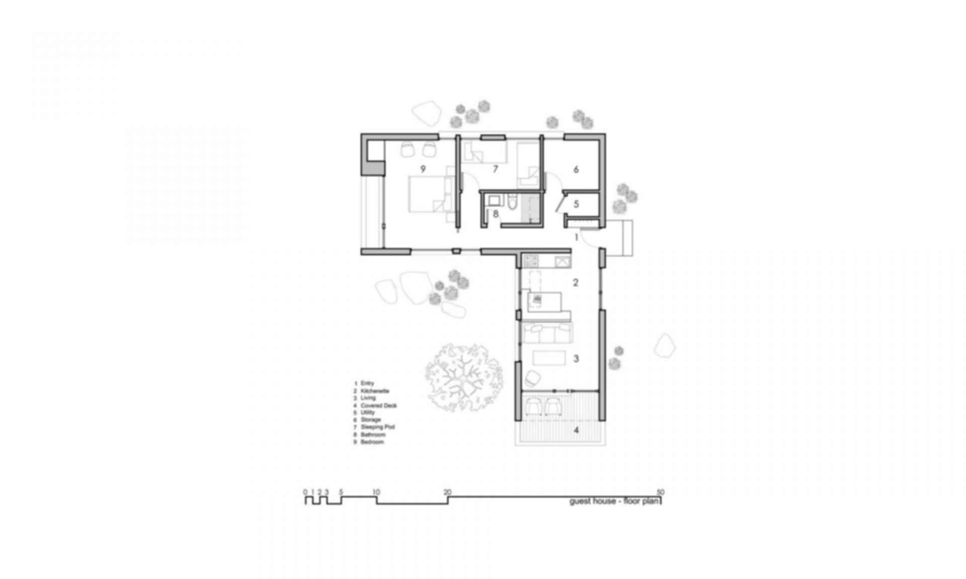 Capitol Reef Desert Dwelling - floor plan