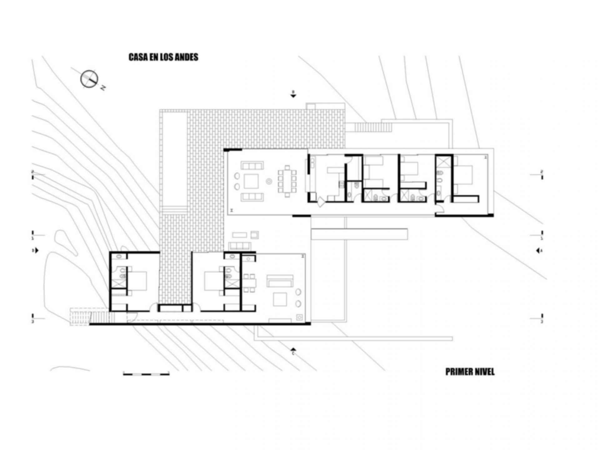 House on The Andes - floor plan