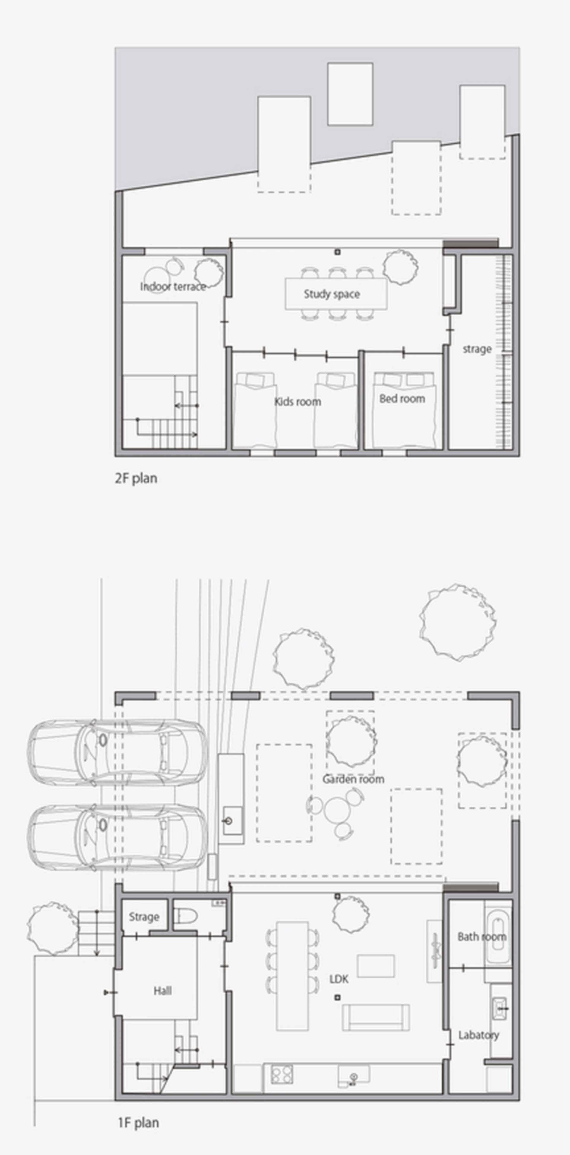 House in Anjo - floor plan