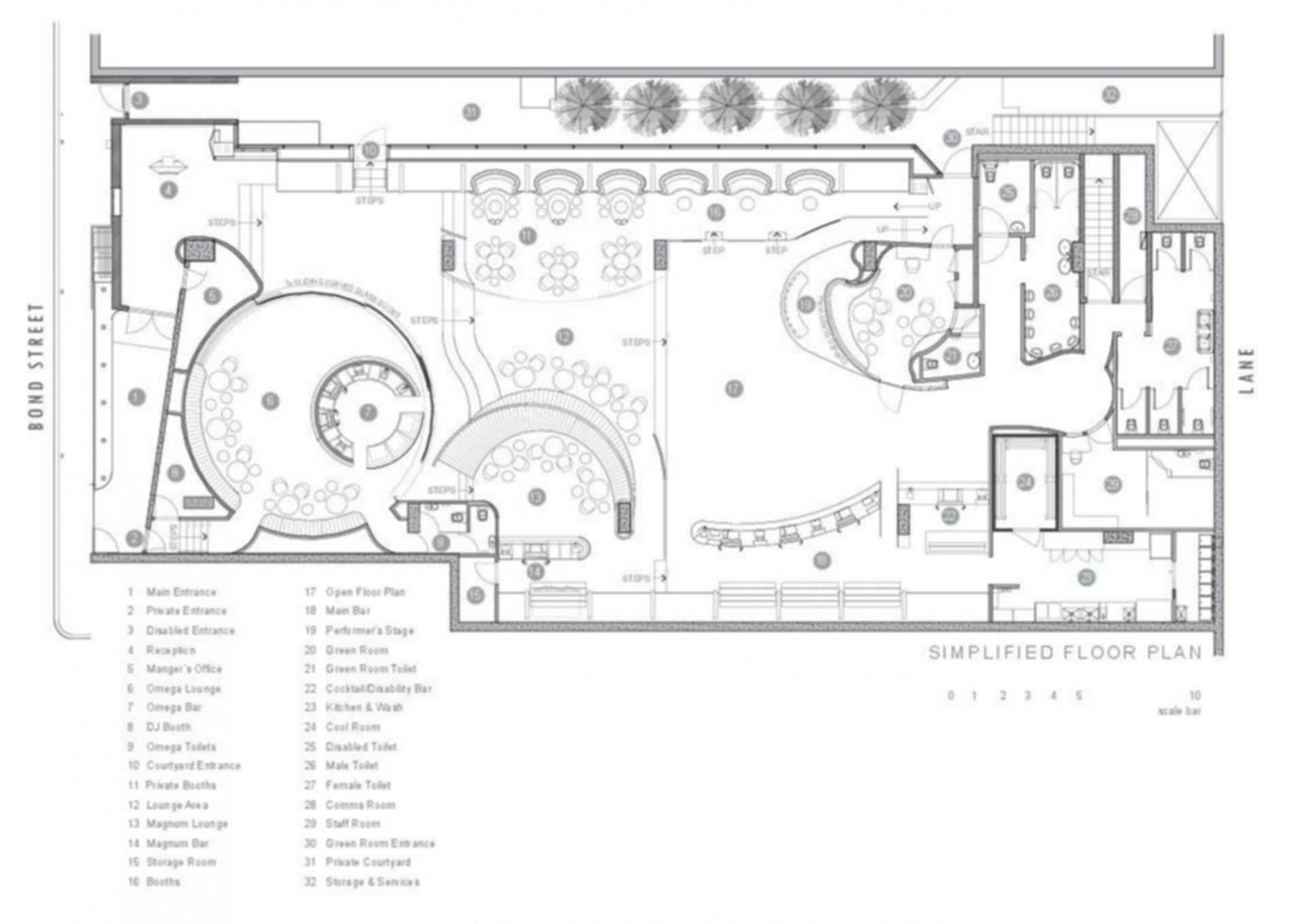 Bond Bar - floor plan