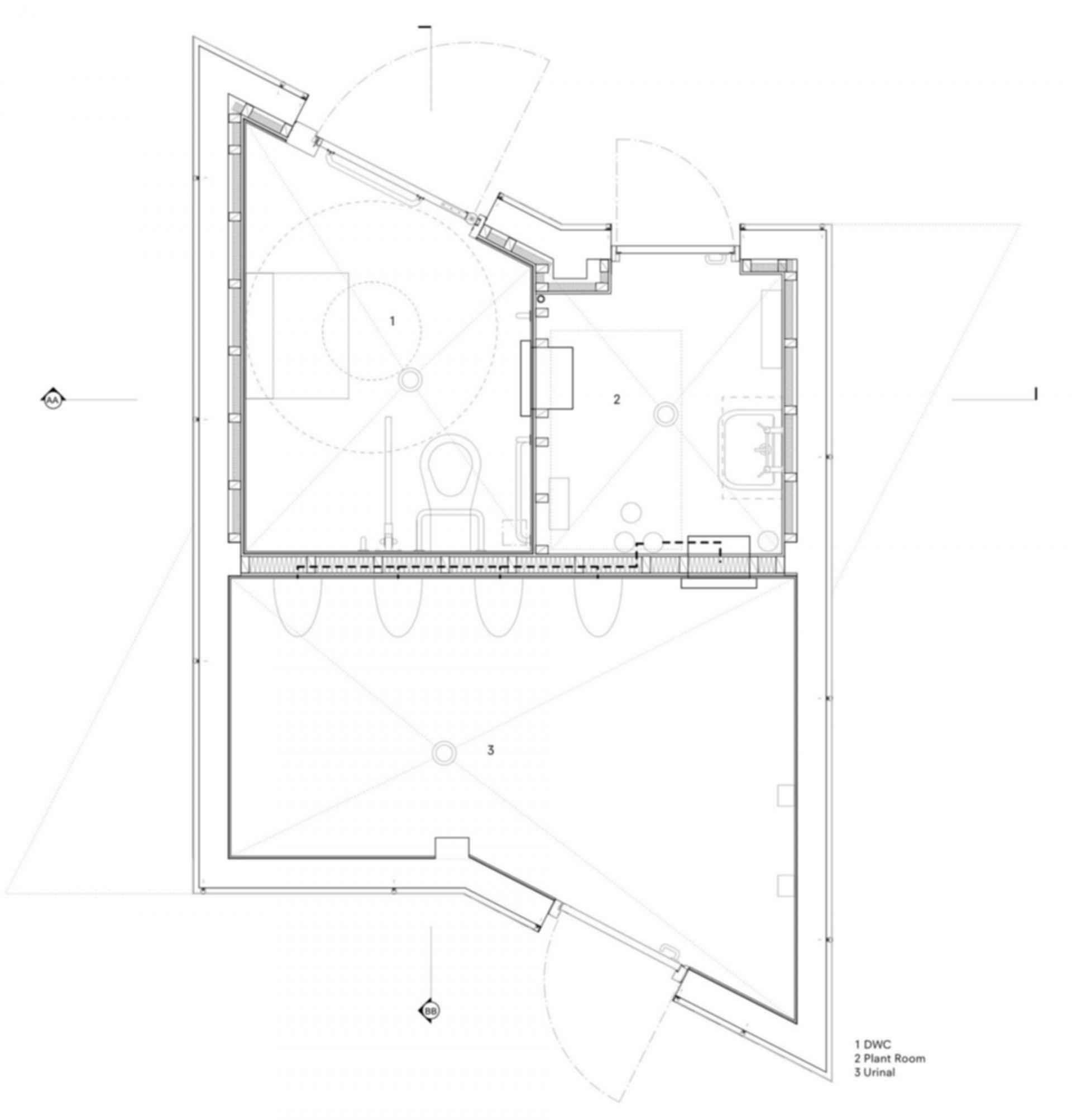 Wembley WC Pavilion - floor plan