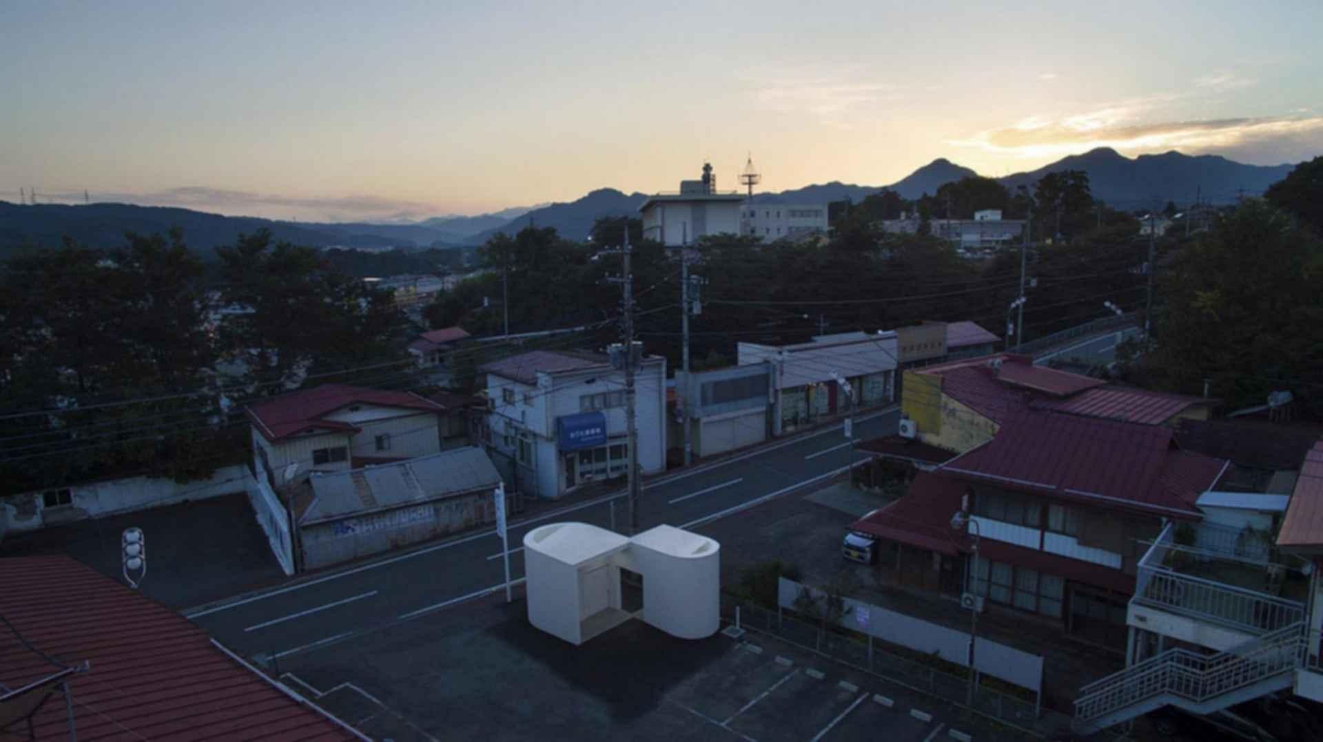 Isemachi Public Toilet - exterior/birds eye view