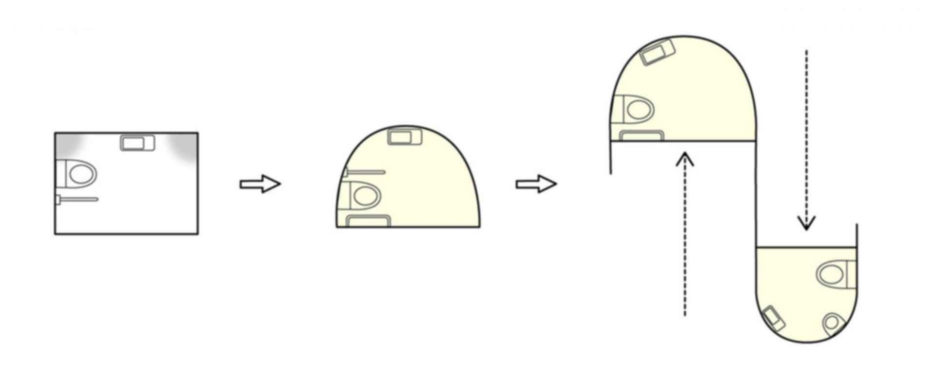 Isemachi Public Toilet - Floor plan