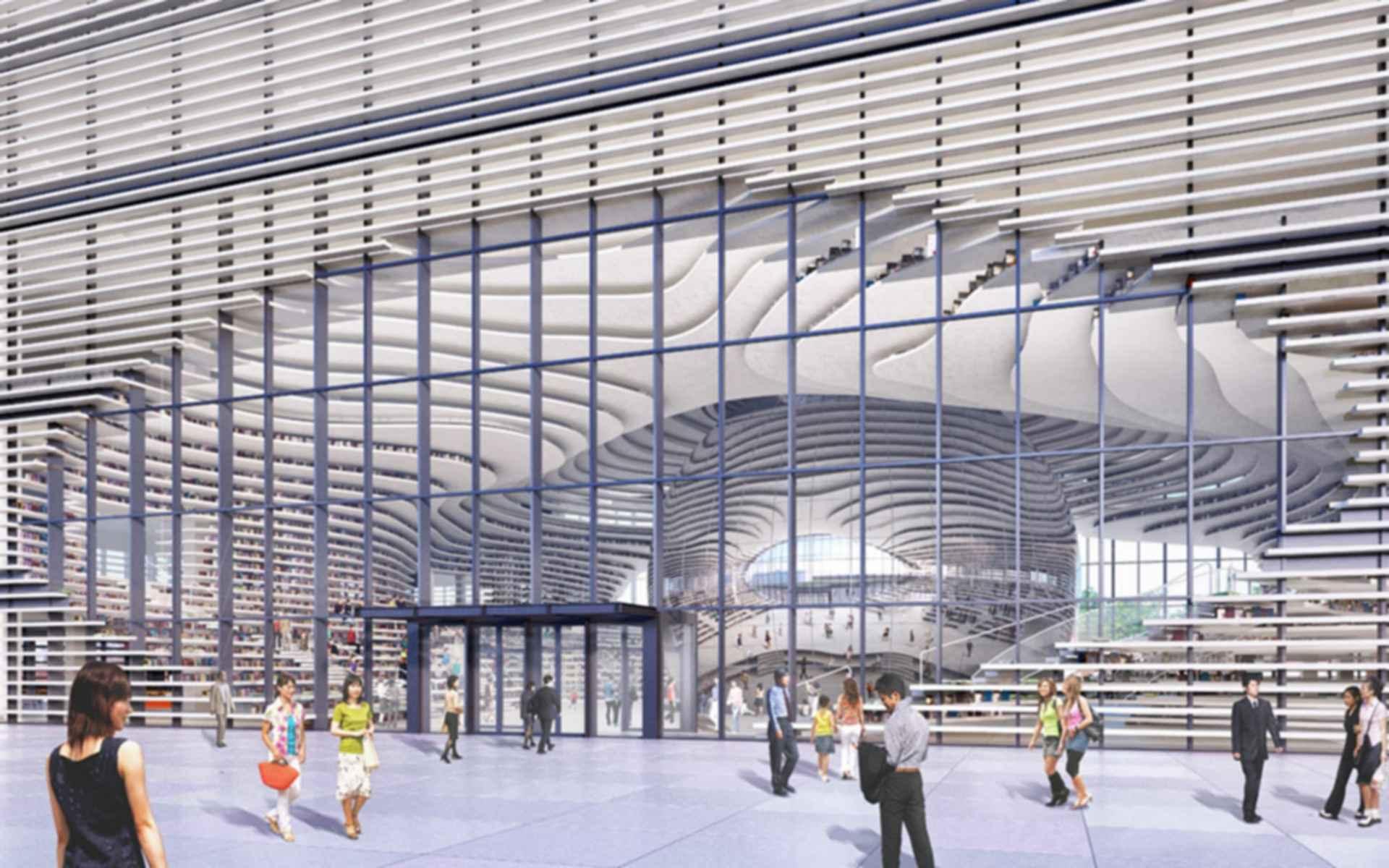Tianjin Binhai Library - concept design
