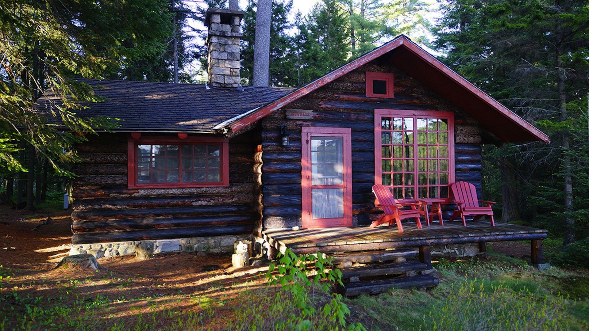 Vintage lake cabins for American craftsman 1200 series windows