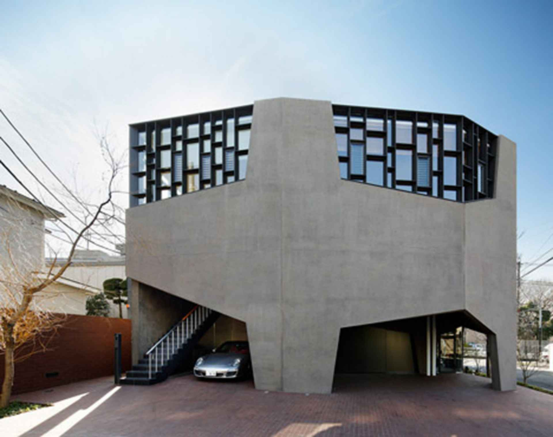 Graz Showroom and Residence - exterior/detailing