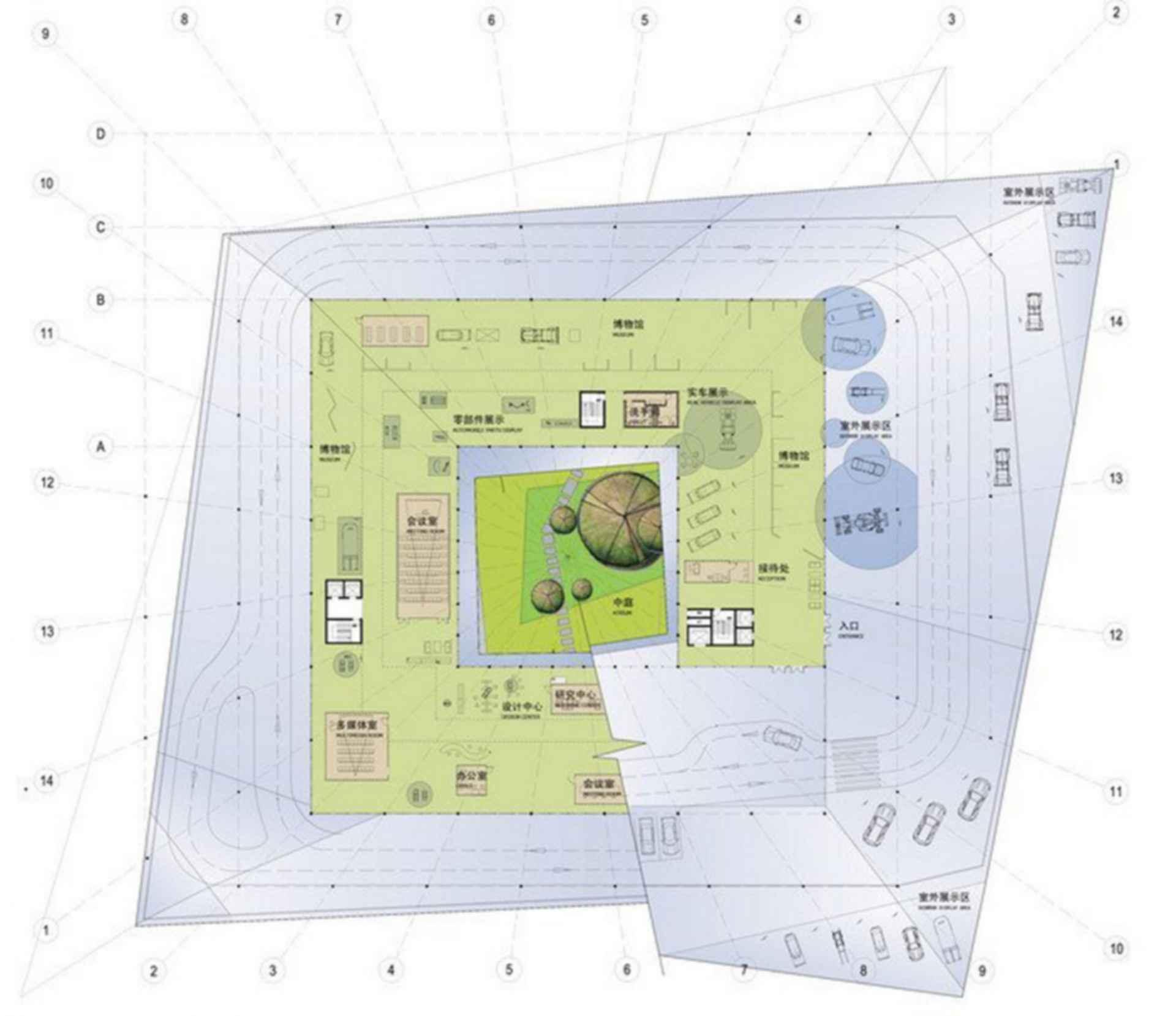 Automobile Museum in Nanjing - floor plan