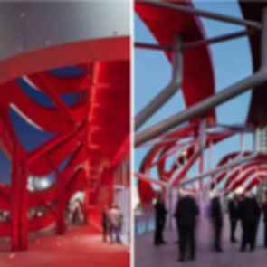 Petersen Automotive Museum - Entrance and Rooftop
