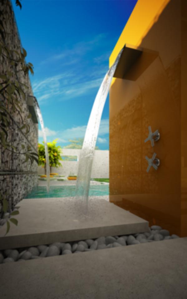 Waterfall Outdoor Shower