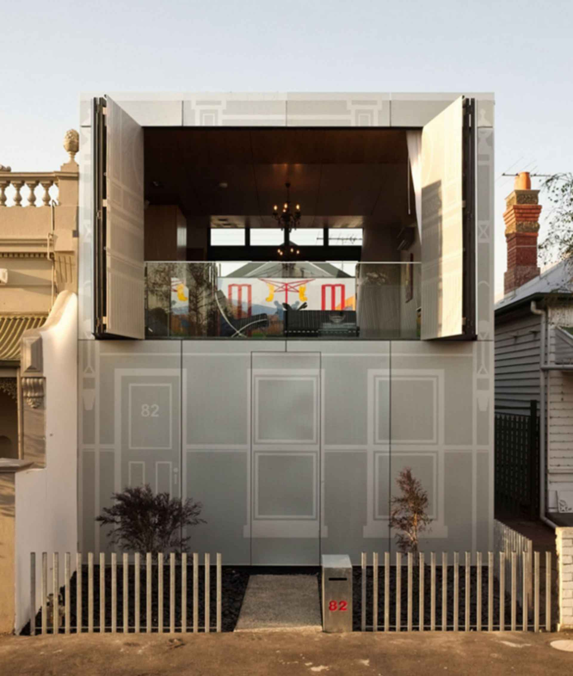 Perforated House - exterior