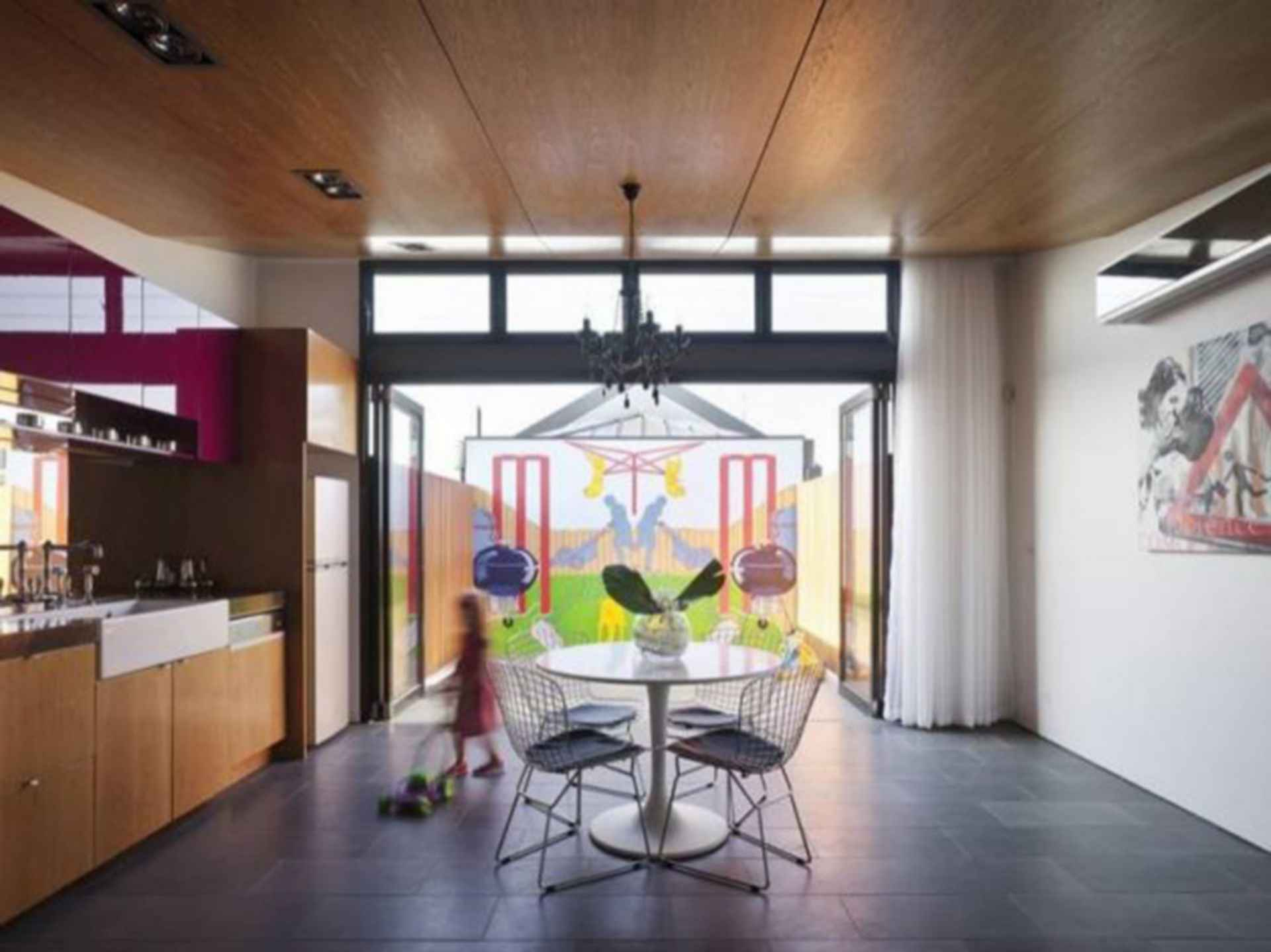 Perforated House - interior/living/kitchen