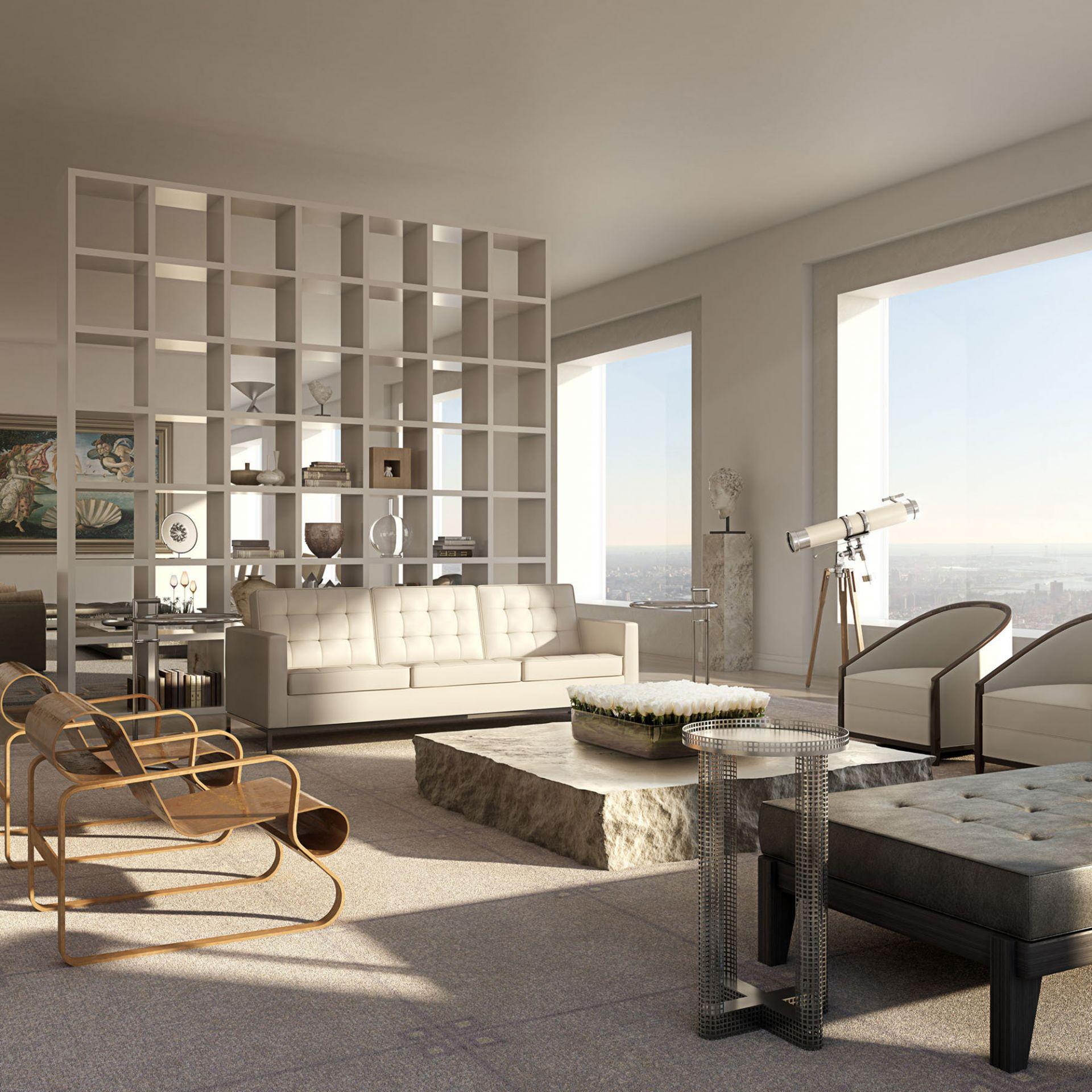 432 Park Avenue Interior Lounge