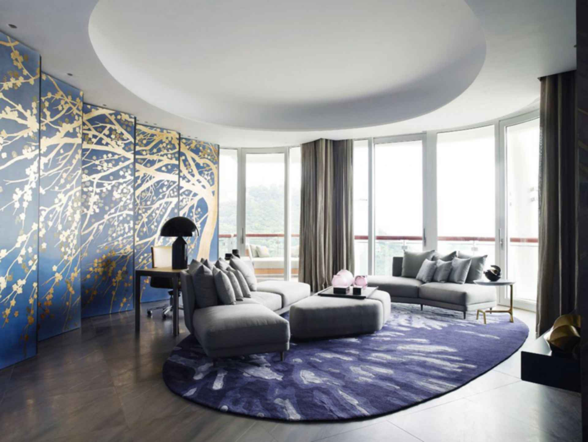 Modern Furniture 2013 Luxury Living Room Curtains Designs: Decadent Apartments