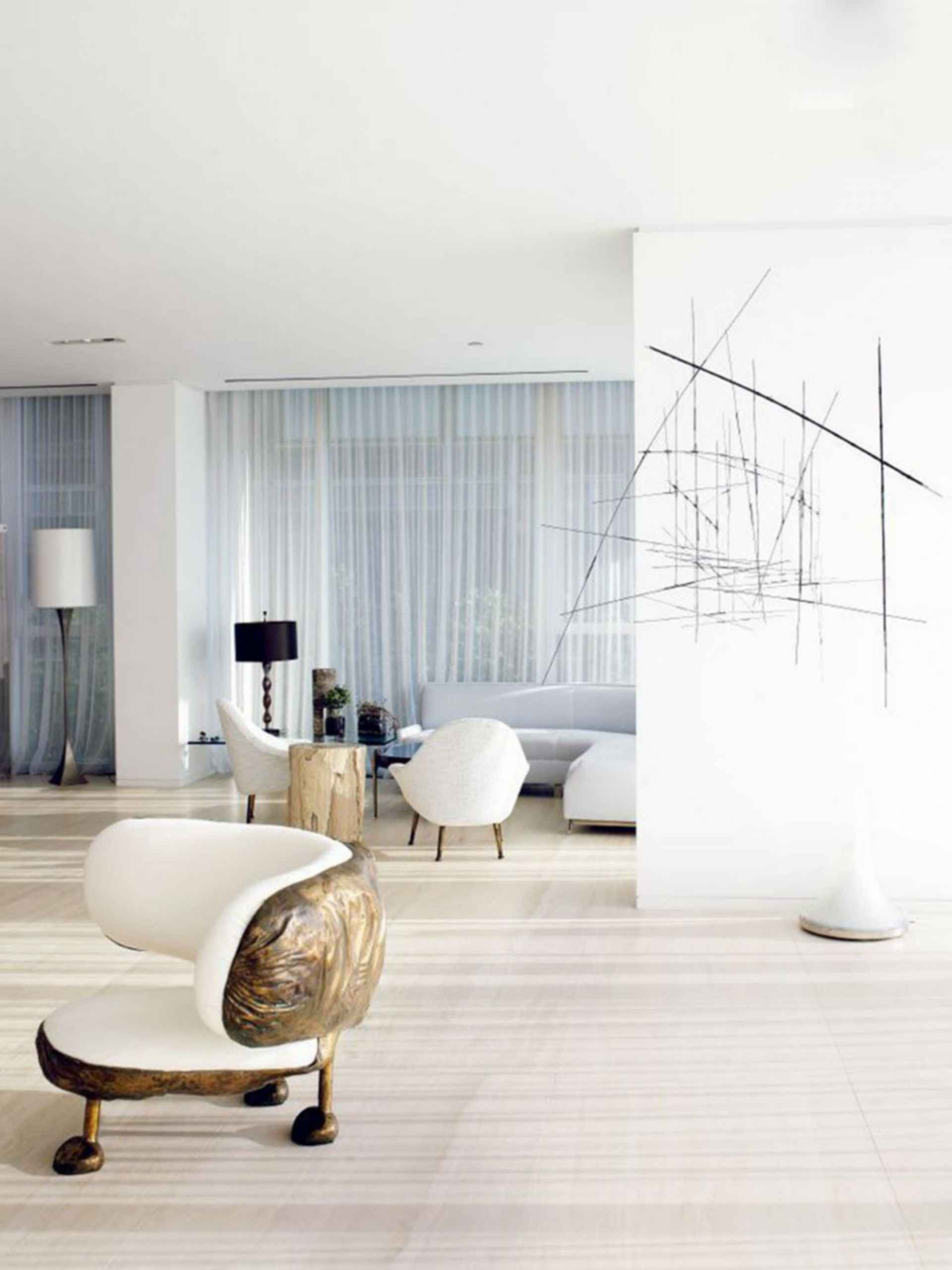 Yabu Pushelberg Residence - interior/lounge
