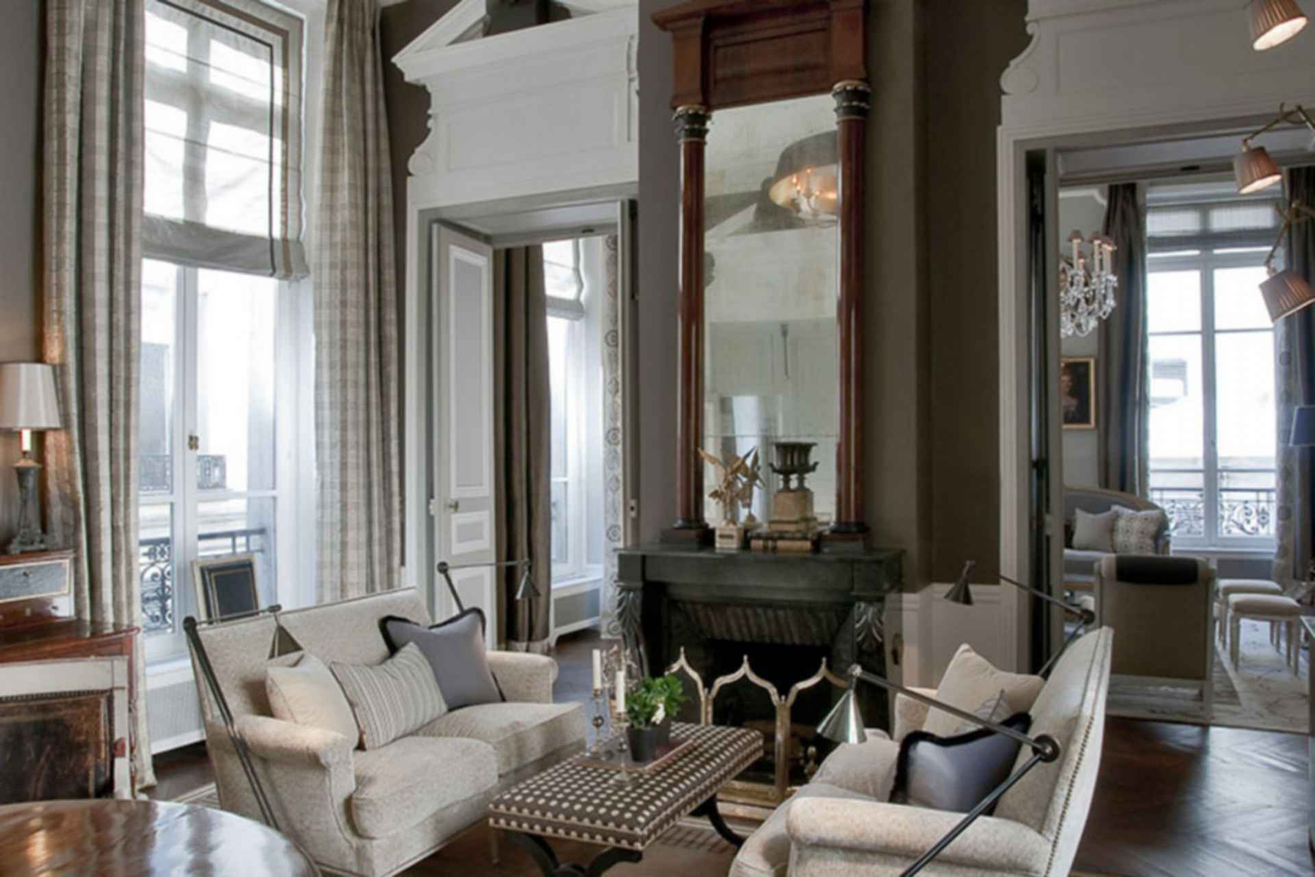 A Private Residence for an American Family-Paris, France - interior/lounge