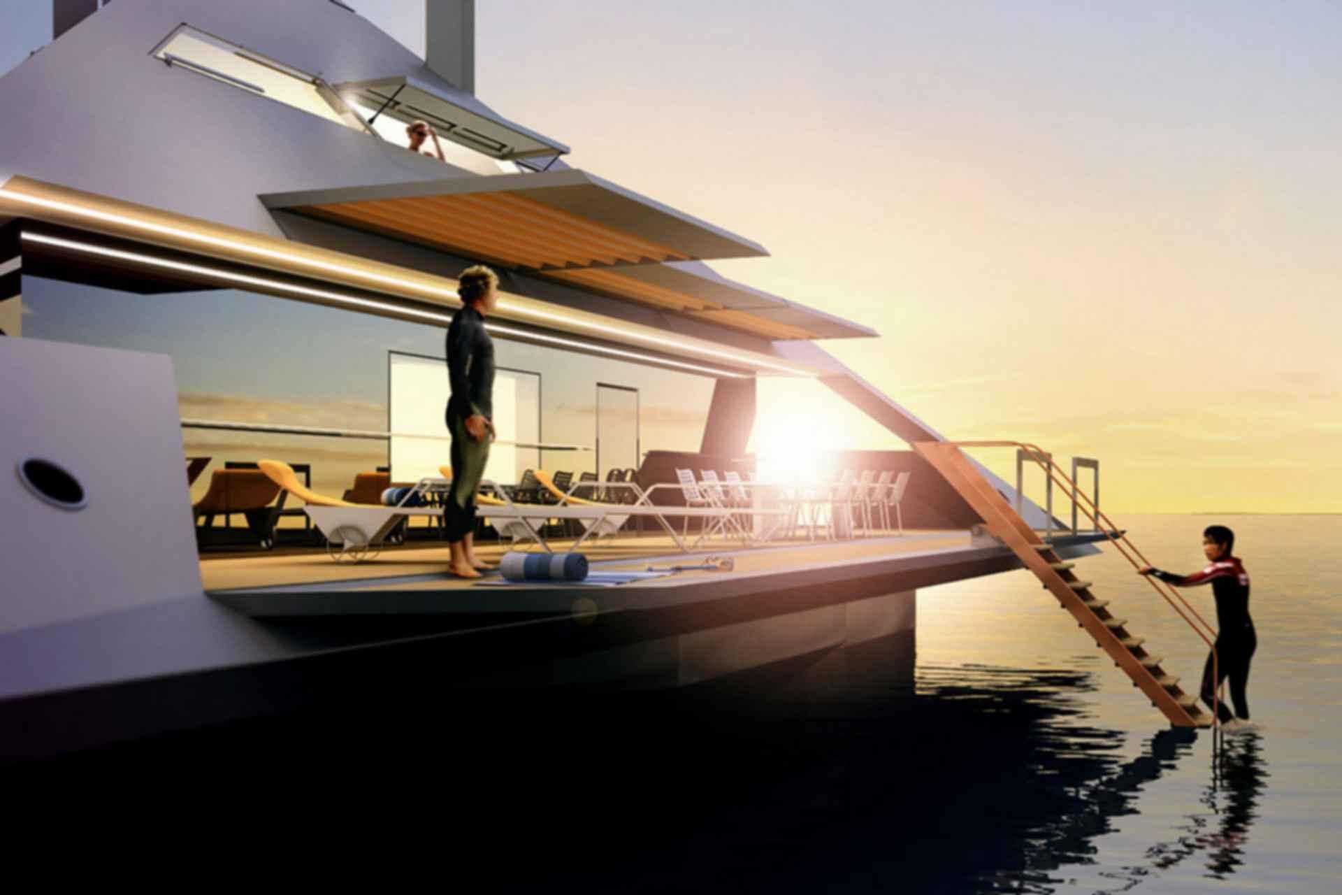 Schwinge Tetrahedron Superyacht - concept design
