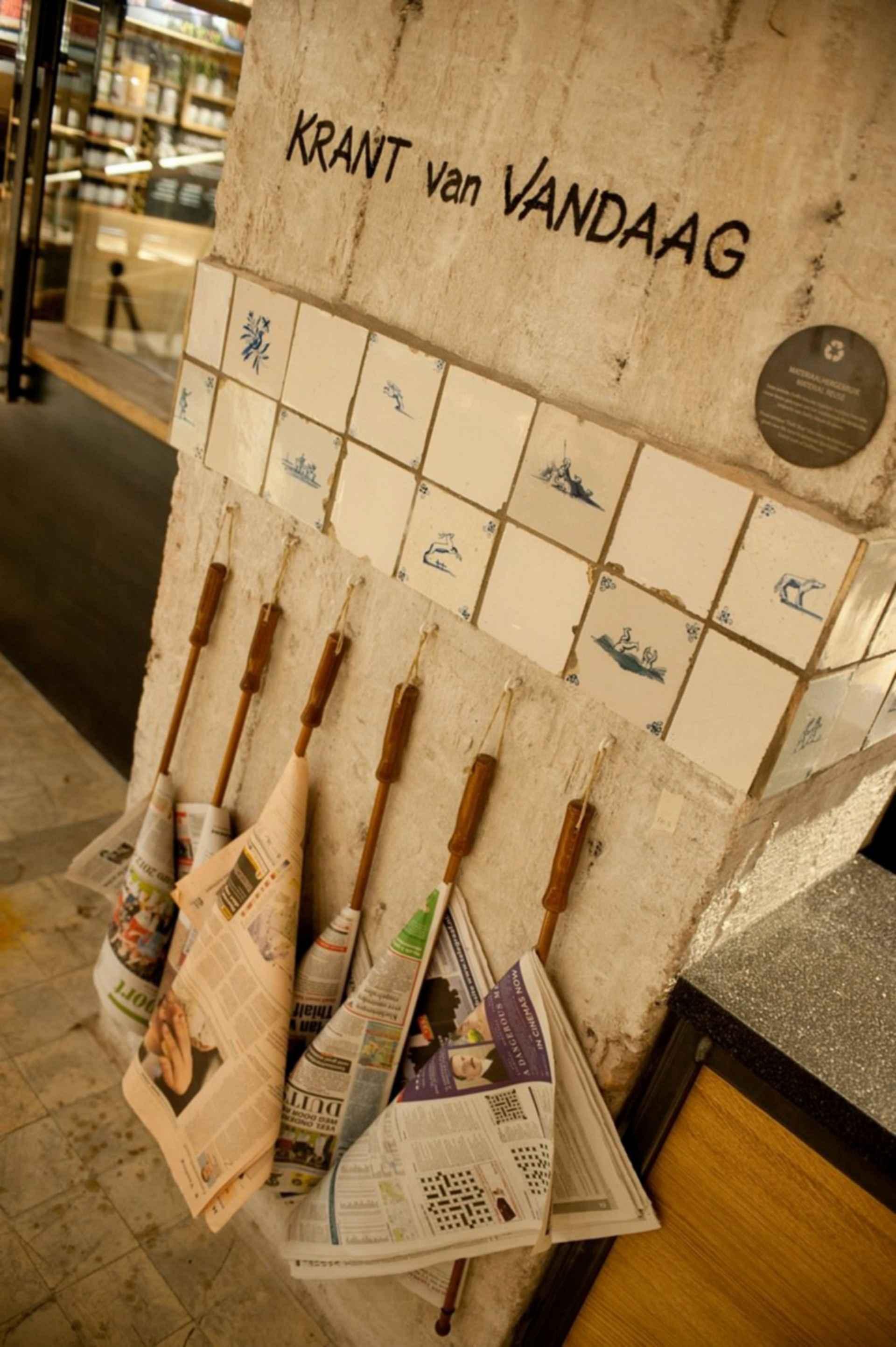 Amsterdam Starbucks - Newspaper Storage