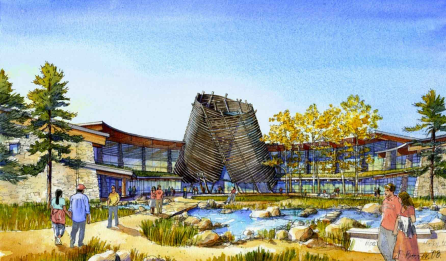 Southern Ute Cultural Center - Concept Drawing