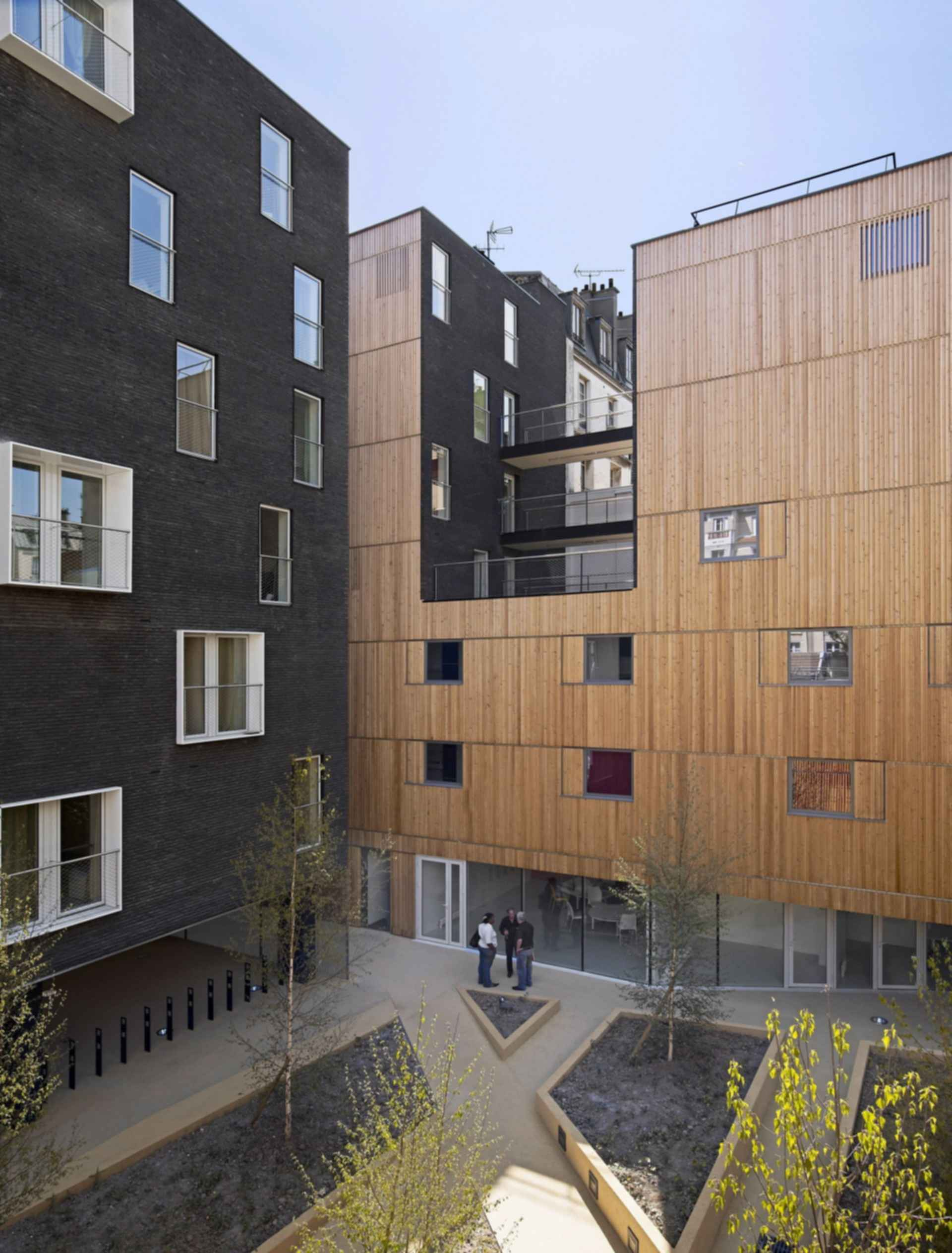 Student Residences in Paris - Courtyard