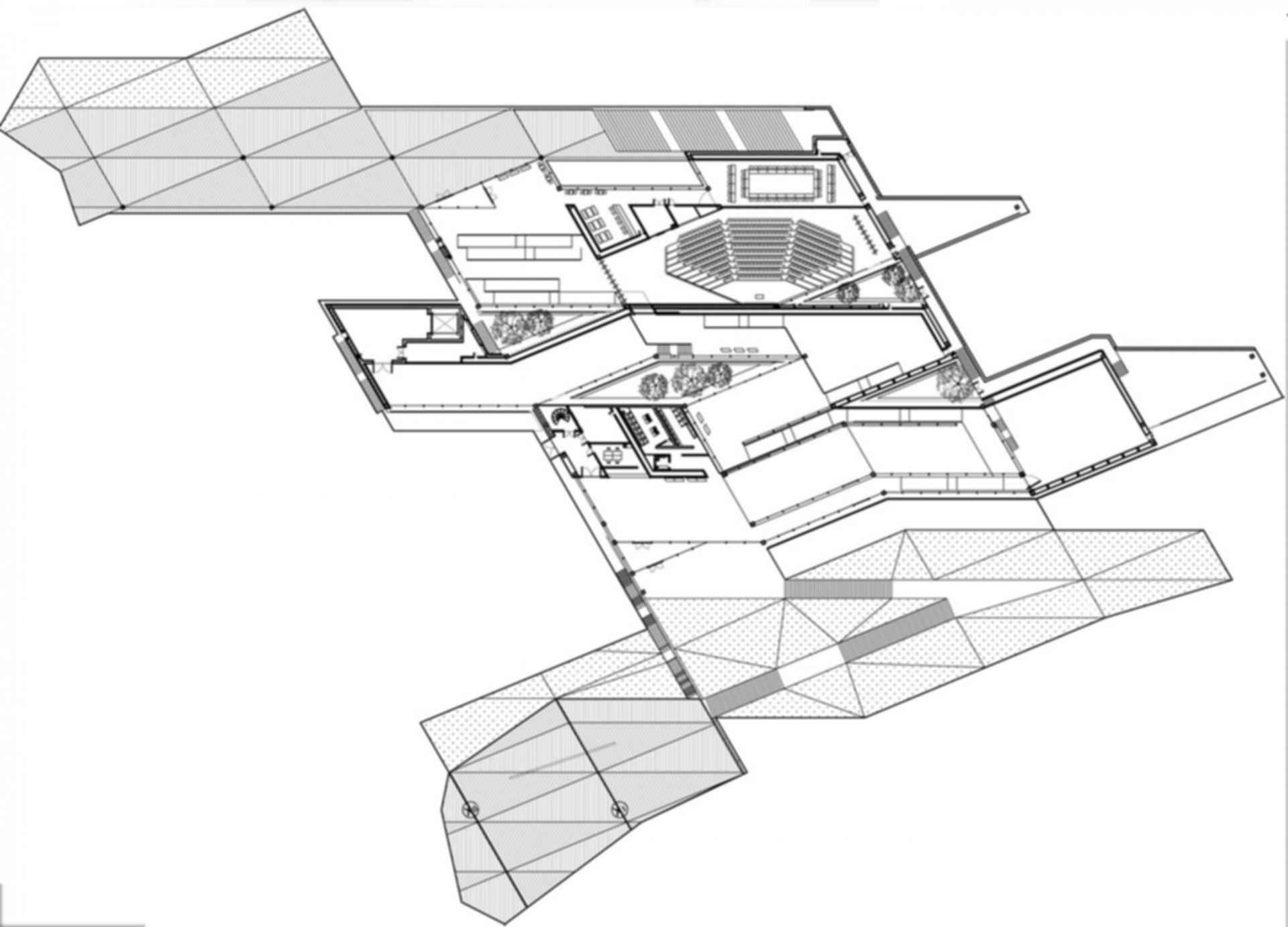 China Academy of Art's Folk Art Museum - Floor Plan