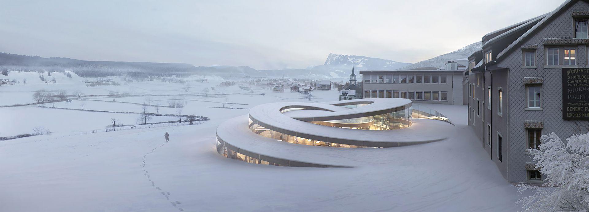 La maison des fondateurs concept design exterior landscape