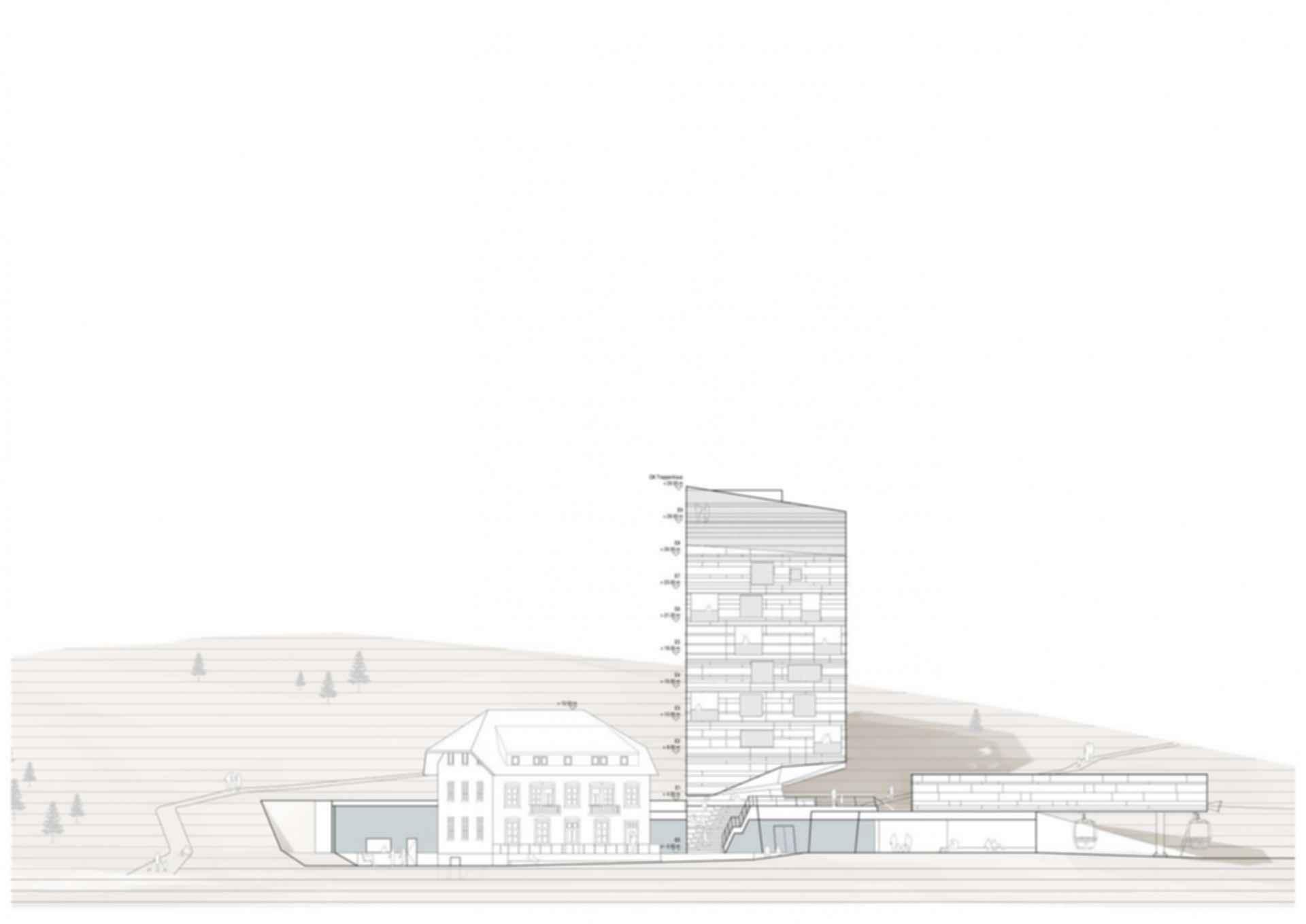 Hotel Belchenhaus Proposal - Concept Design/Elevation