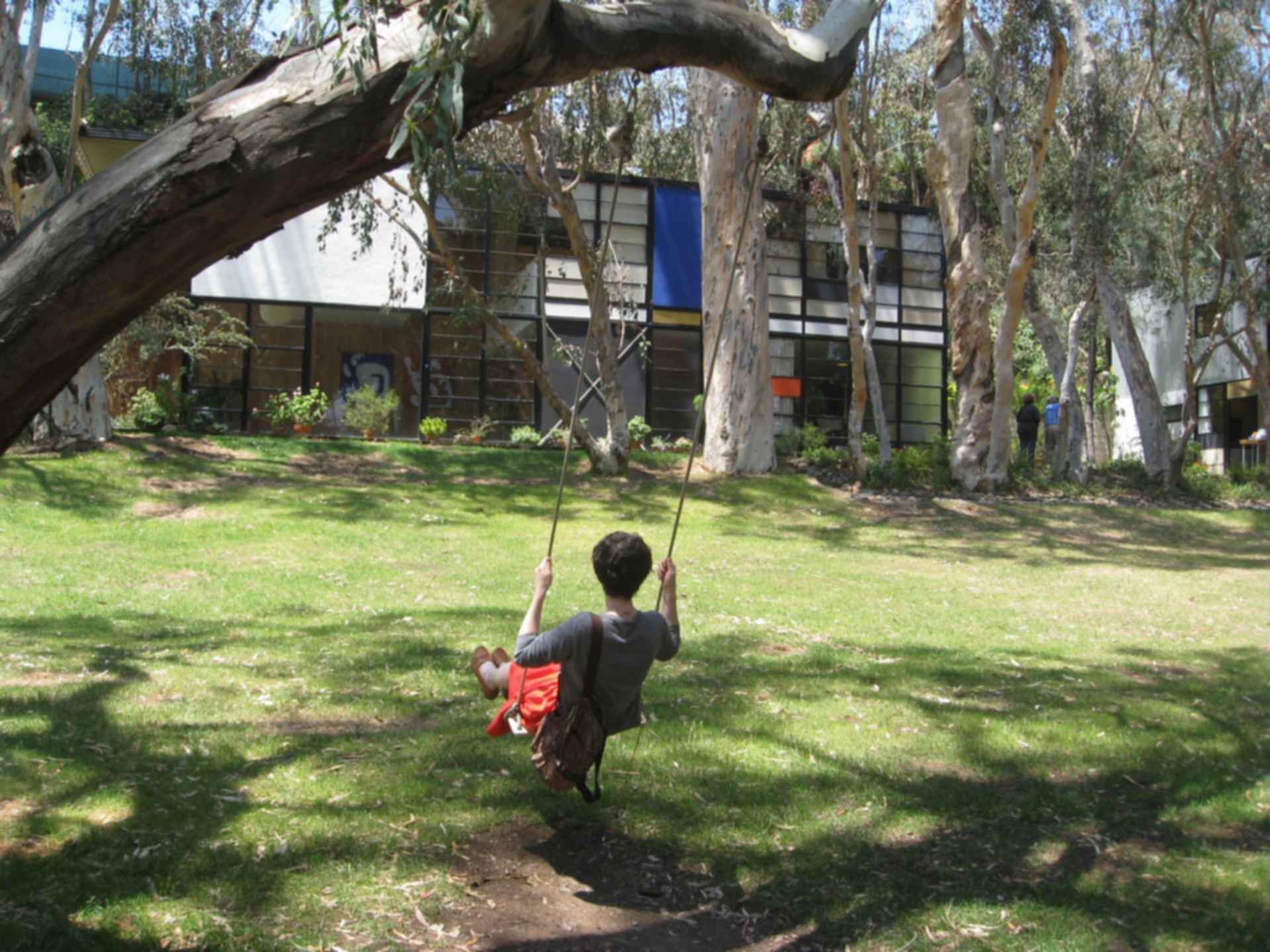 Eames House - Exterior/Backyard