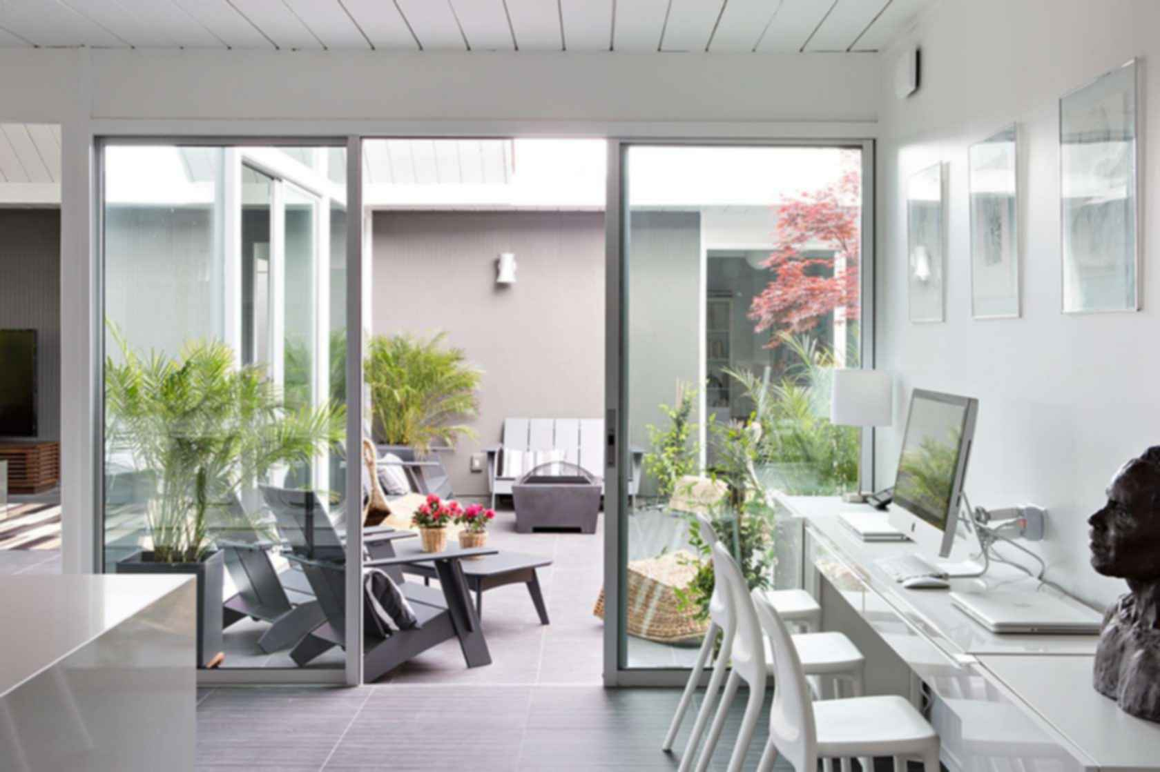Double Gable Eichler Remodel - Interior/Exterior