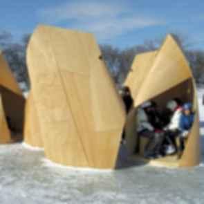 Patkau Warming Huts - Exterior