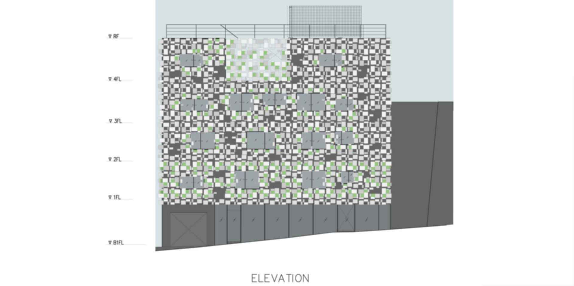 Green Cast - Elevation