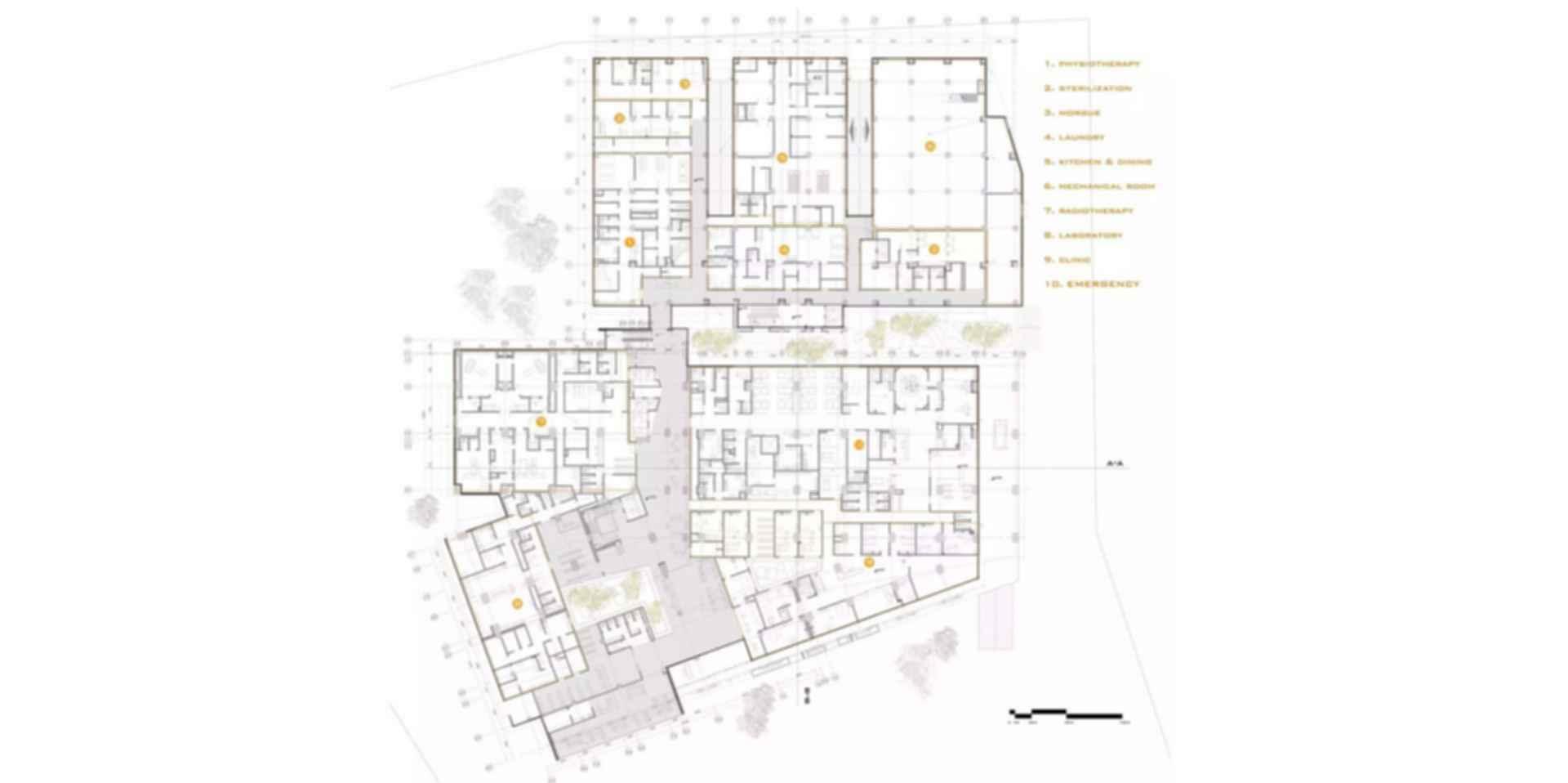 Pars Hospital - Floor Plan