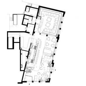 Bar Botanique Cafe Tropique - Floor Plan