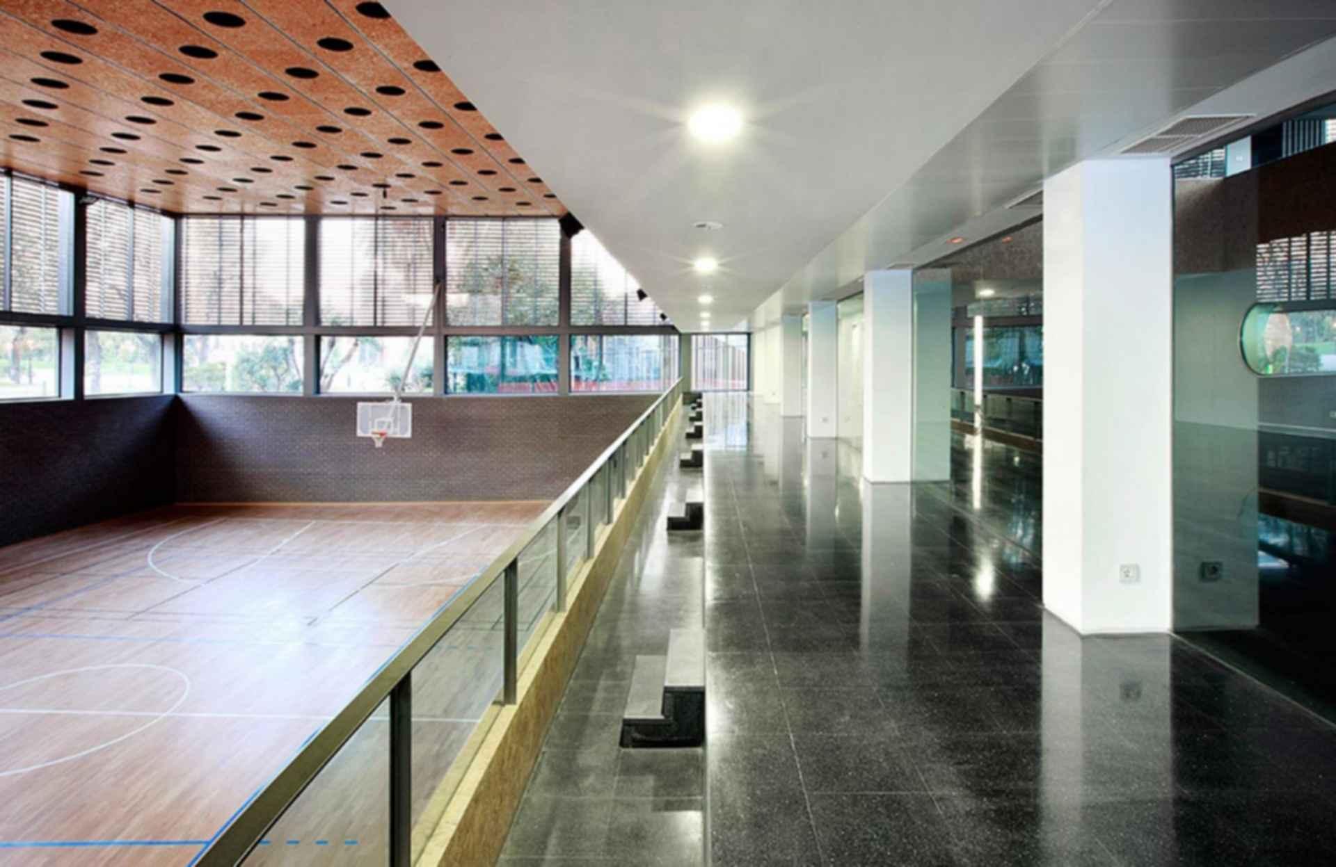 Ciutadella Park Sports Center - Interior/Basketball Court