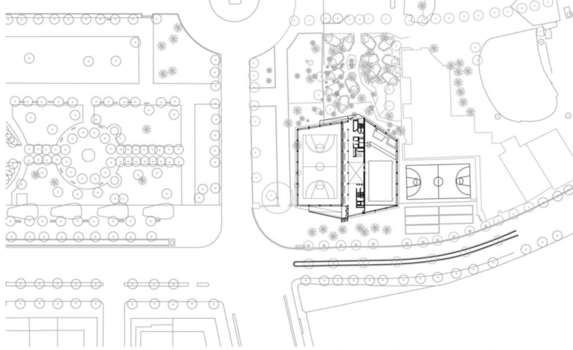 Ciutadella Park Sports Center - Site Plan