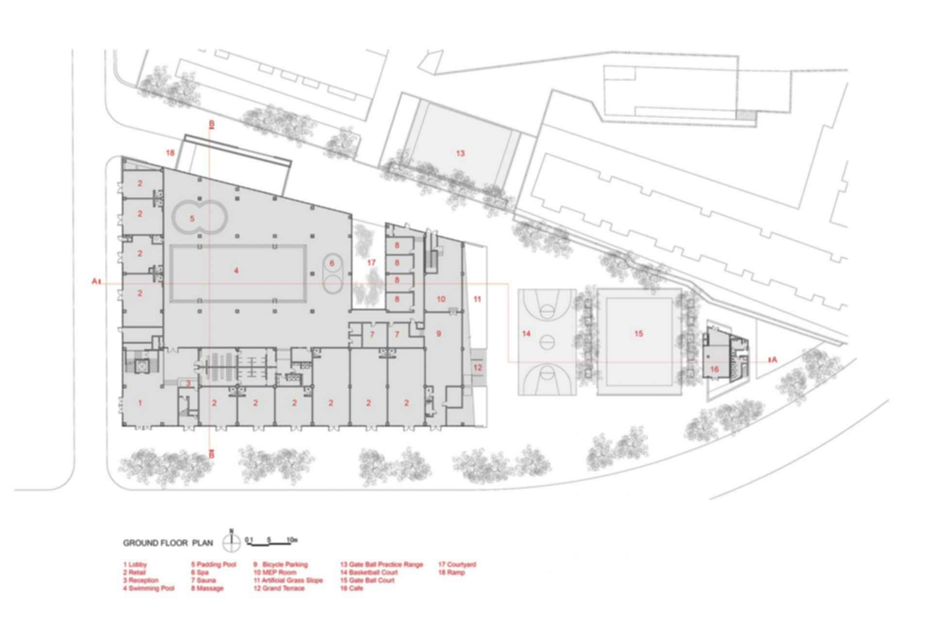 San Wayao Community Center - Floor Plan