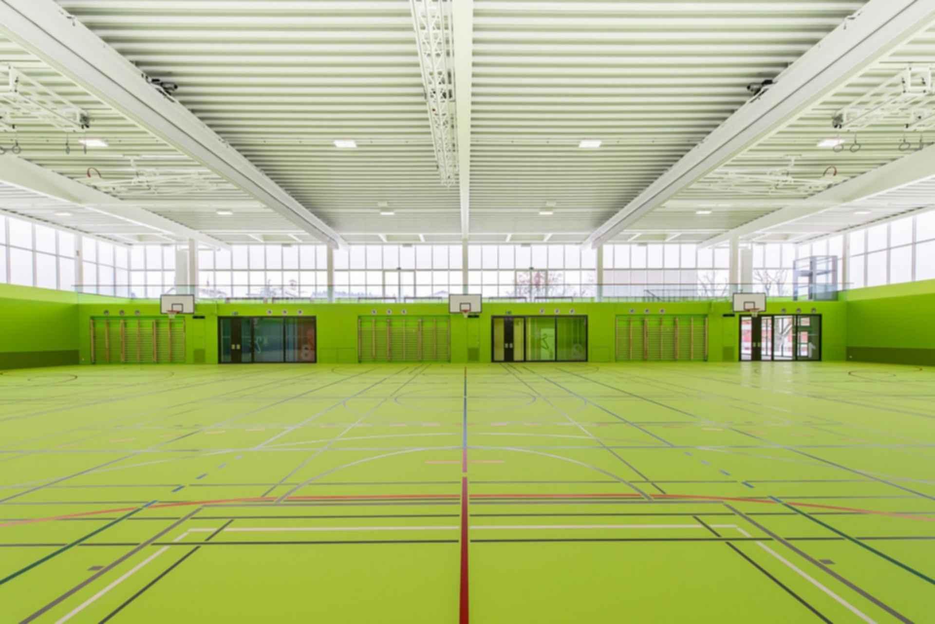 Neumatt Sports Facility - Interior/Basketball Courts