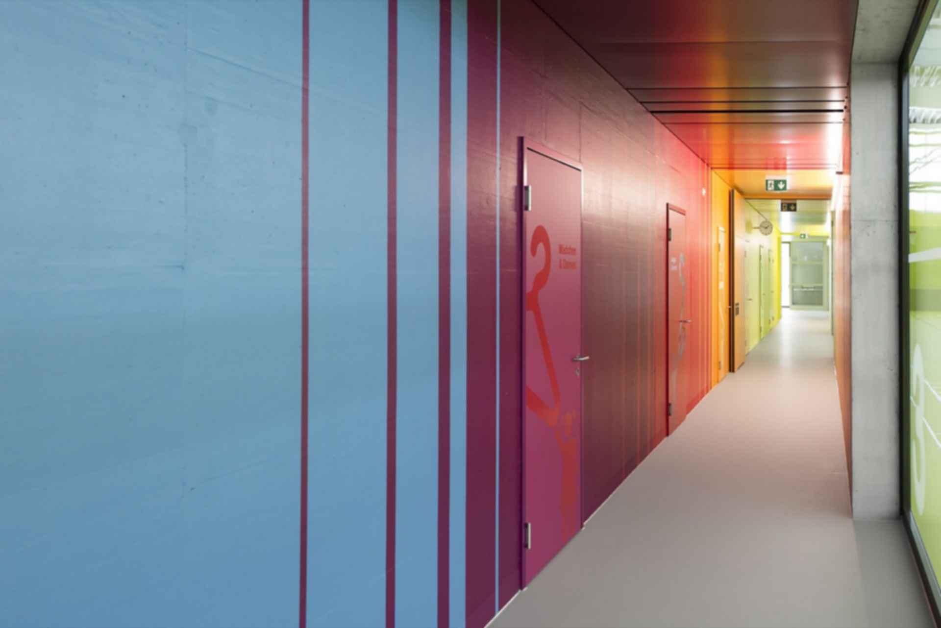 Neumatt Sports Facility - Interior Hallway