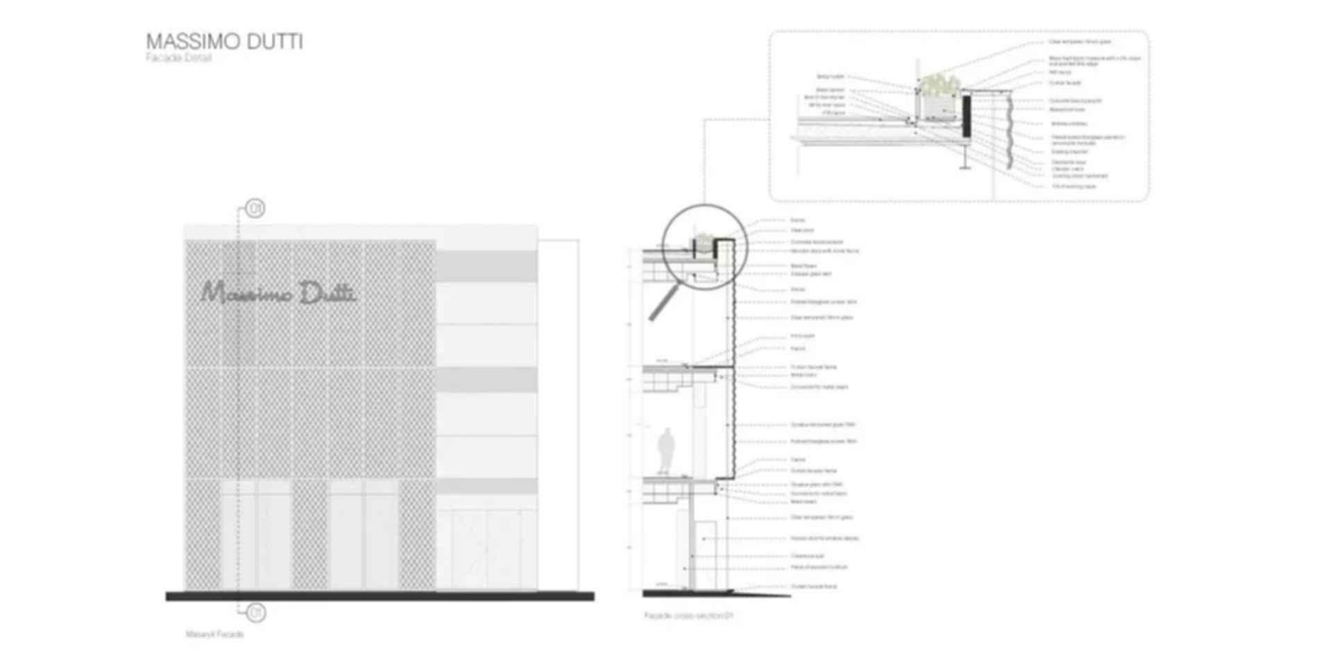 Massimo Dutti - Facade Detail