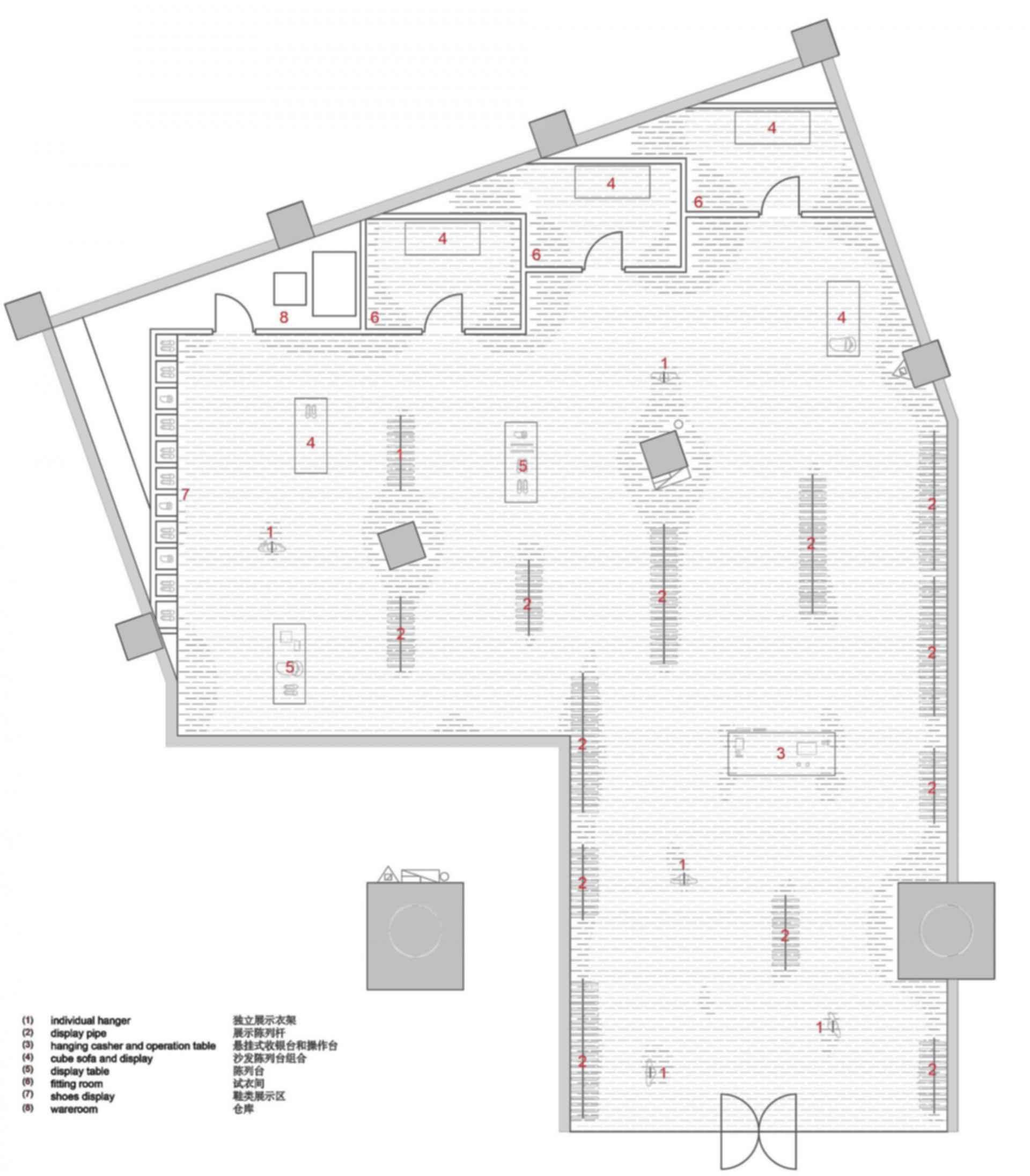 SND Fashion Store - Floor Plan