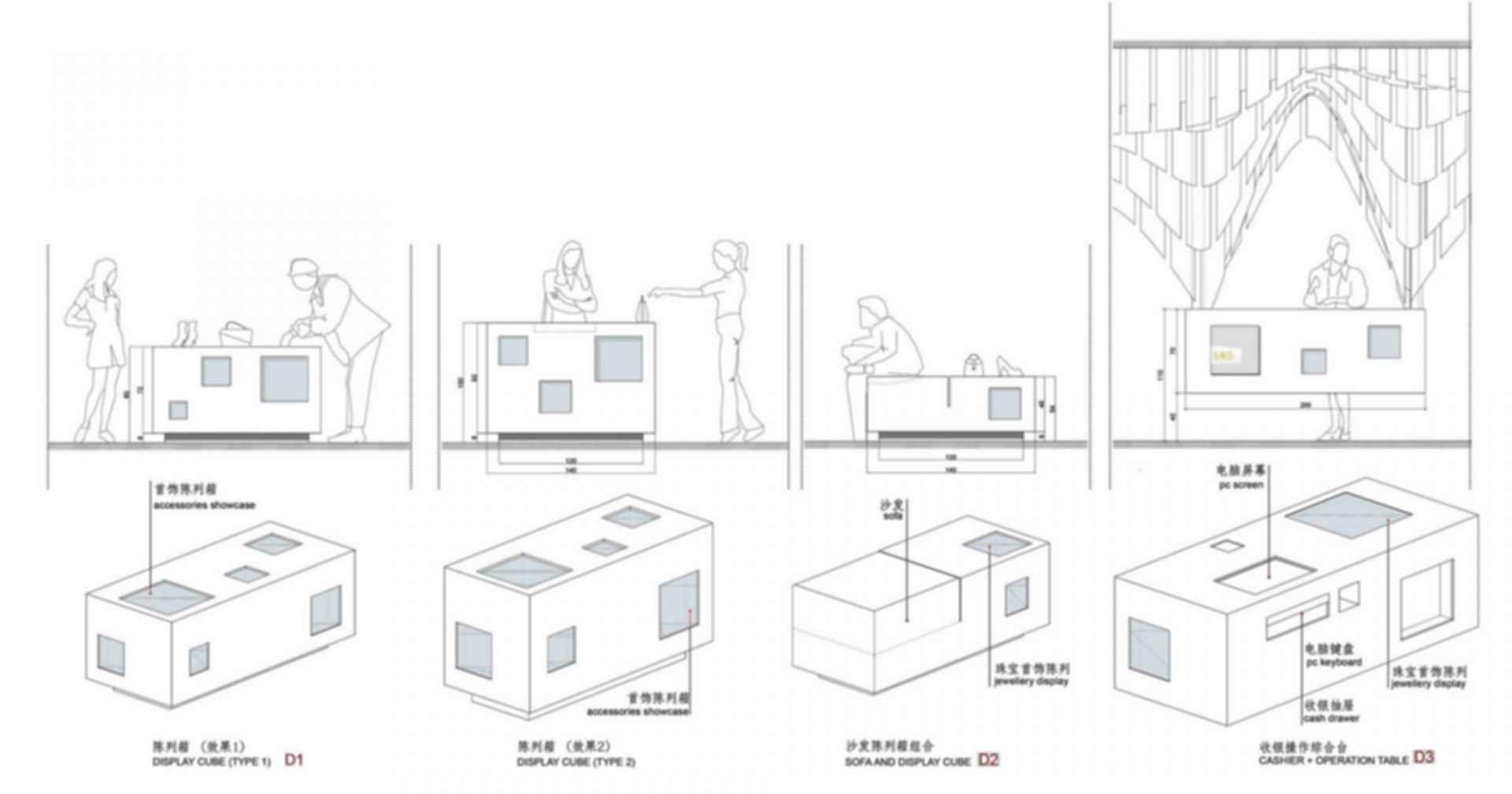 SND Fashion Store - Display Cube Design