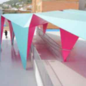 Folded-Steel Structure for a School Playground