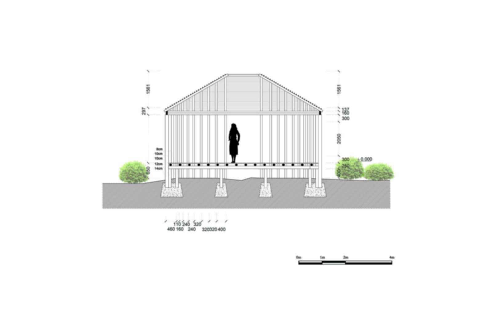 The bamboo pavilion concept design for Pavilion concept architecture