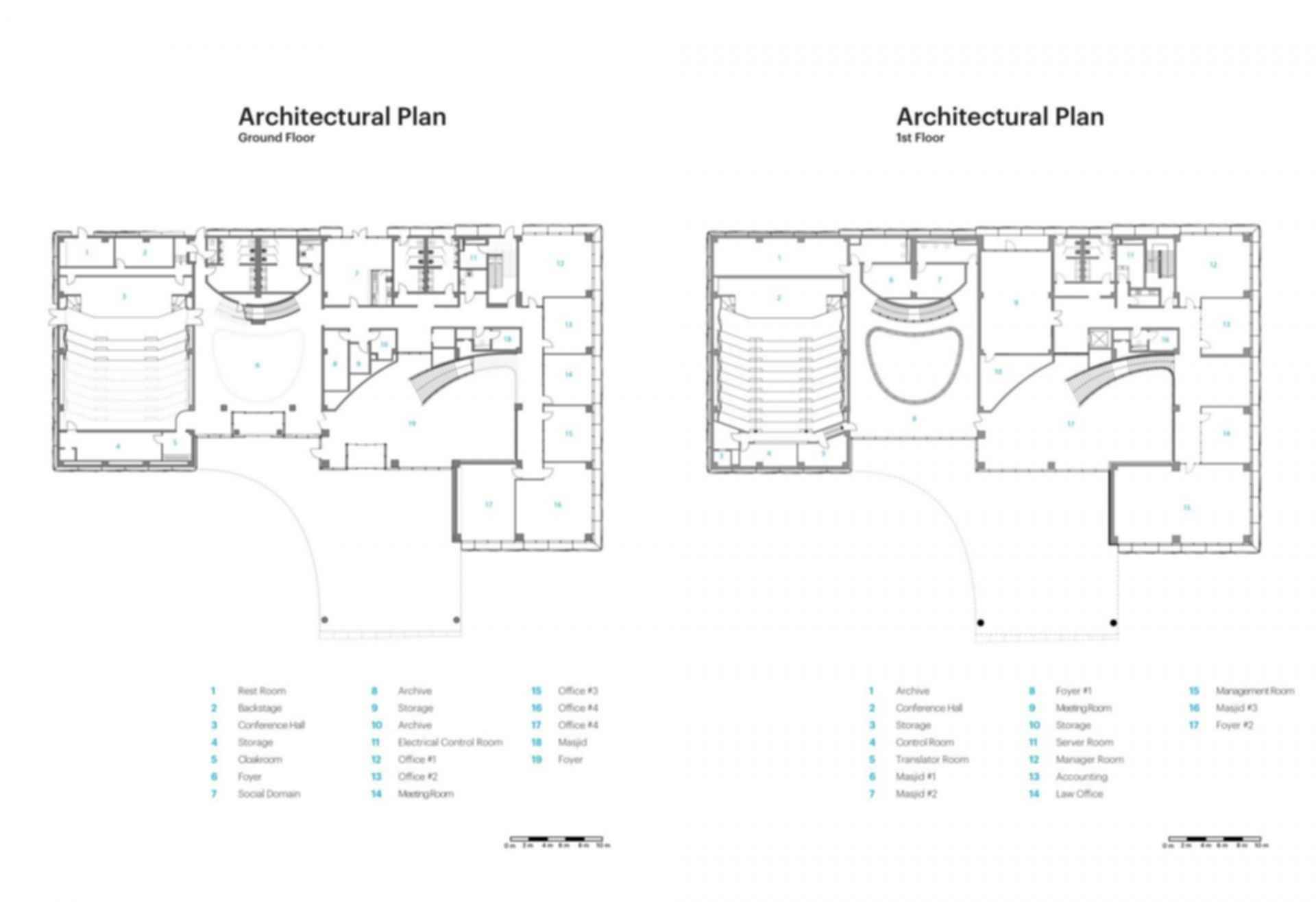 S2OSB Headquarters & Conference Hall - Floor Plan
