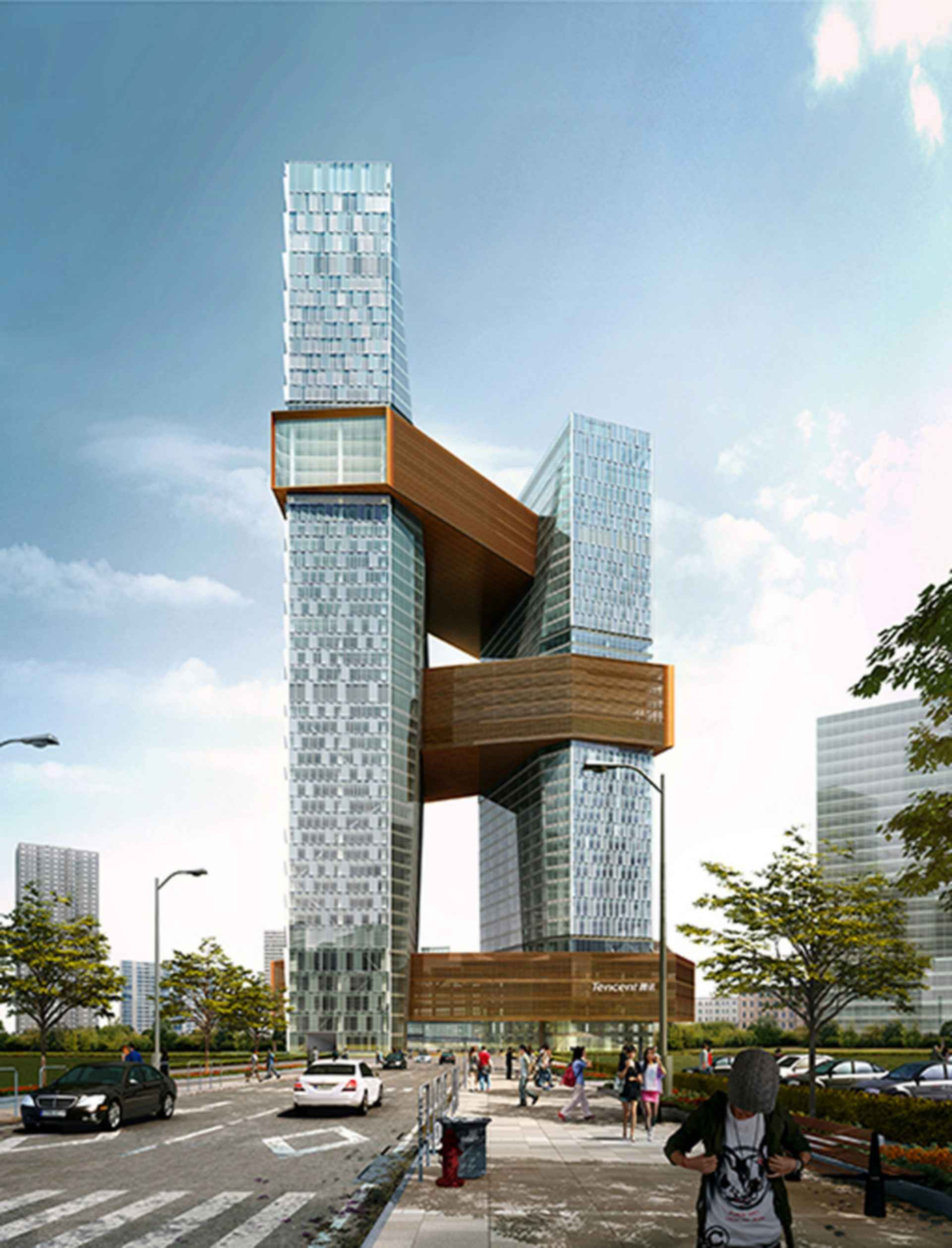Tencent Seafront Towers - Concept Design/Exterior/Street View