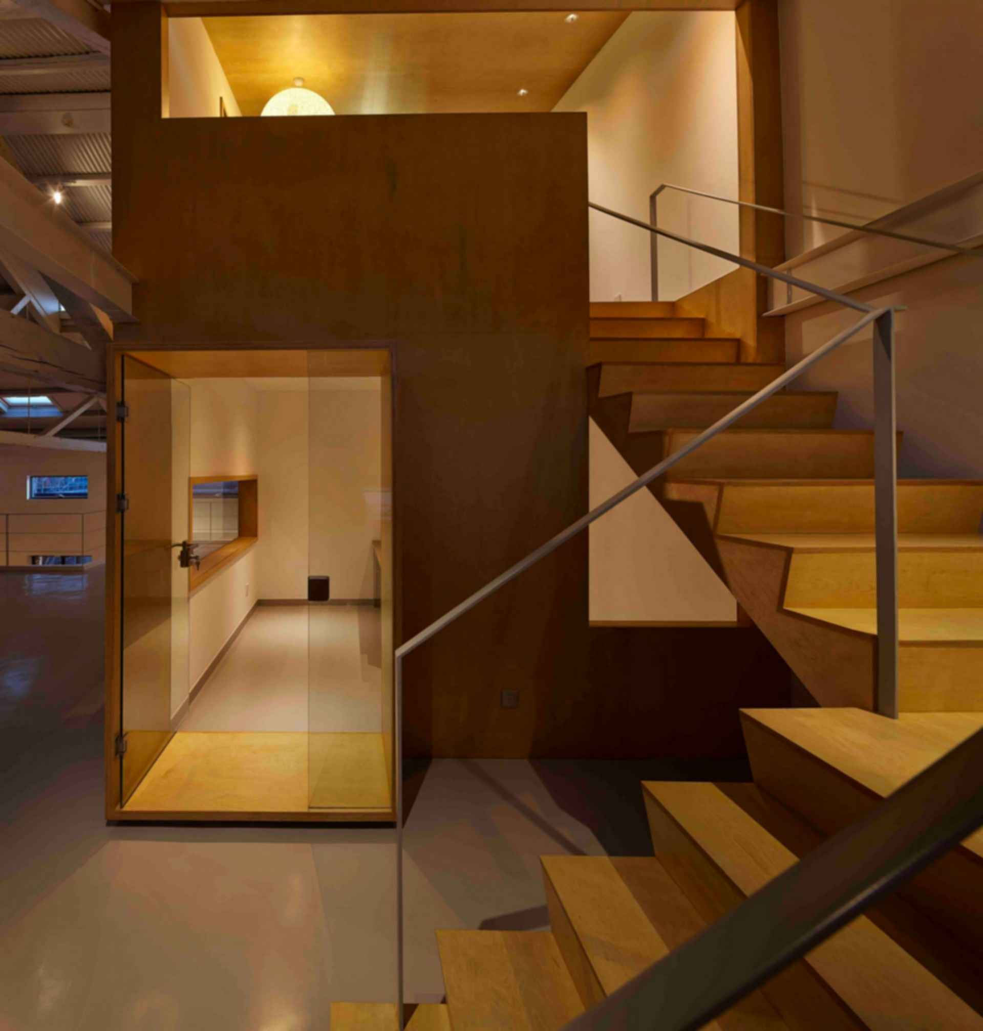 Arrow Factory: Hutong Media & Culture Creative Space - interior stairs