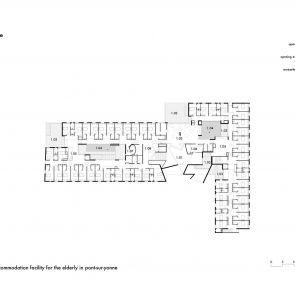 92-Bed Nursing Home - 1st floor plan