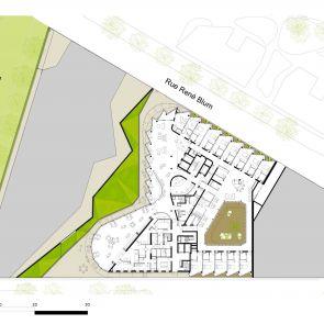 Nursing Home in Batignolles - site plan