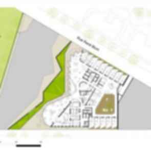 Nursing Home in Batignolles - site plan